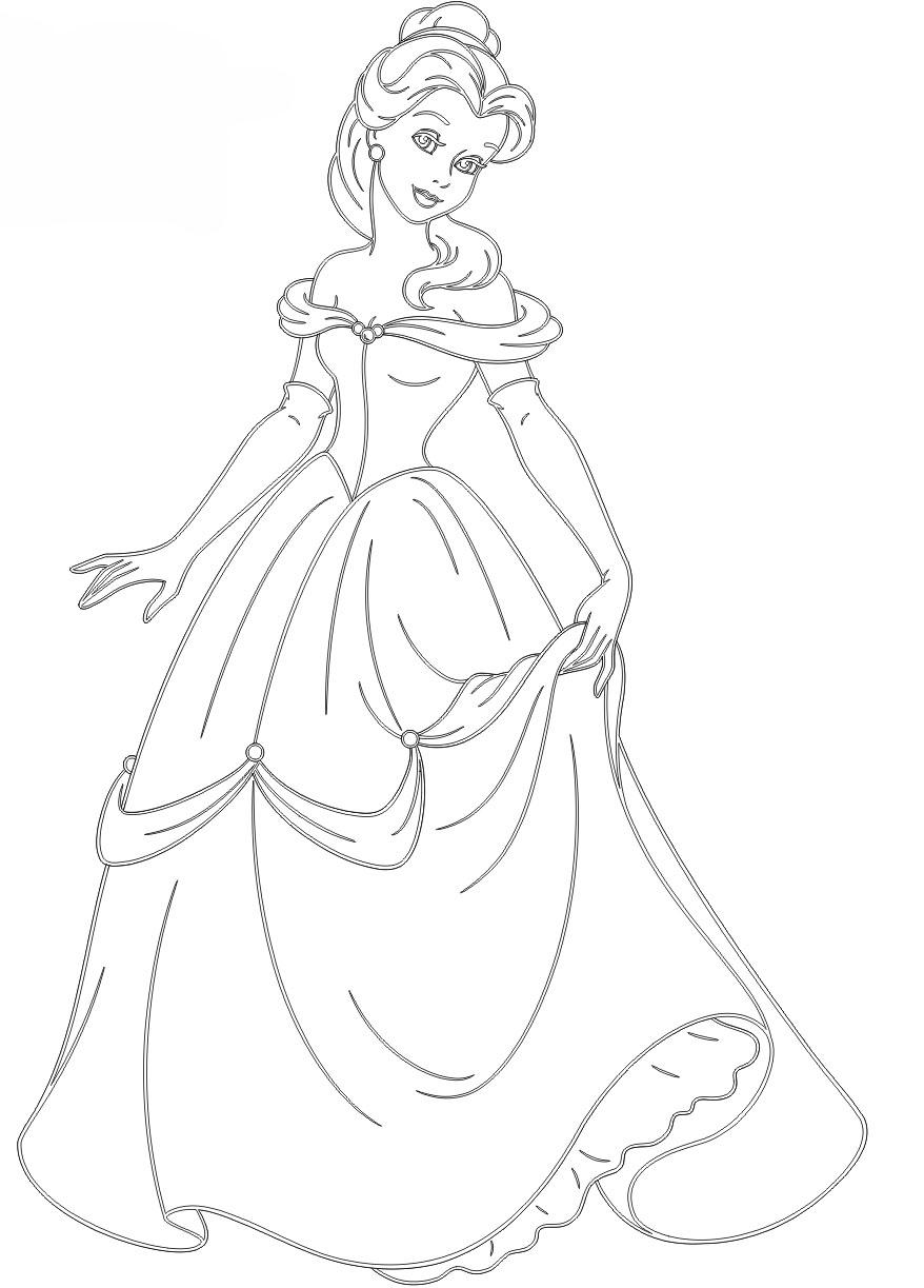 Kleid: Ausmalbilder Prinzessin in Gratis Malvorlagen Prinzessin Lillifee