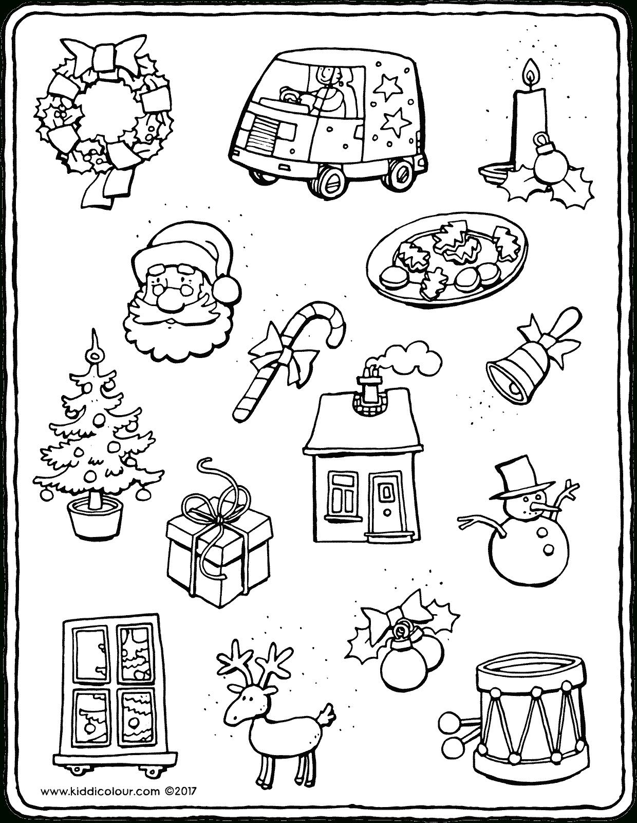 Kleine Dinge Für Weihnachten - Kiddimalseite ganzes Ausmalbilder Zu Weihnachten