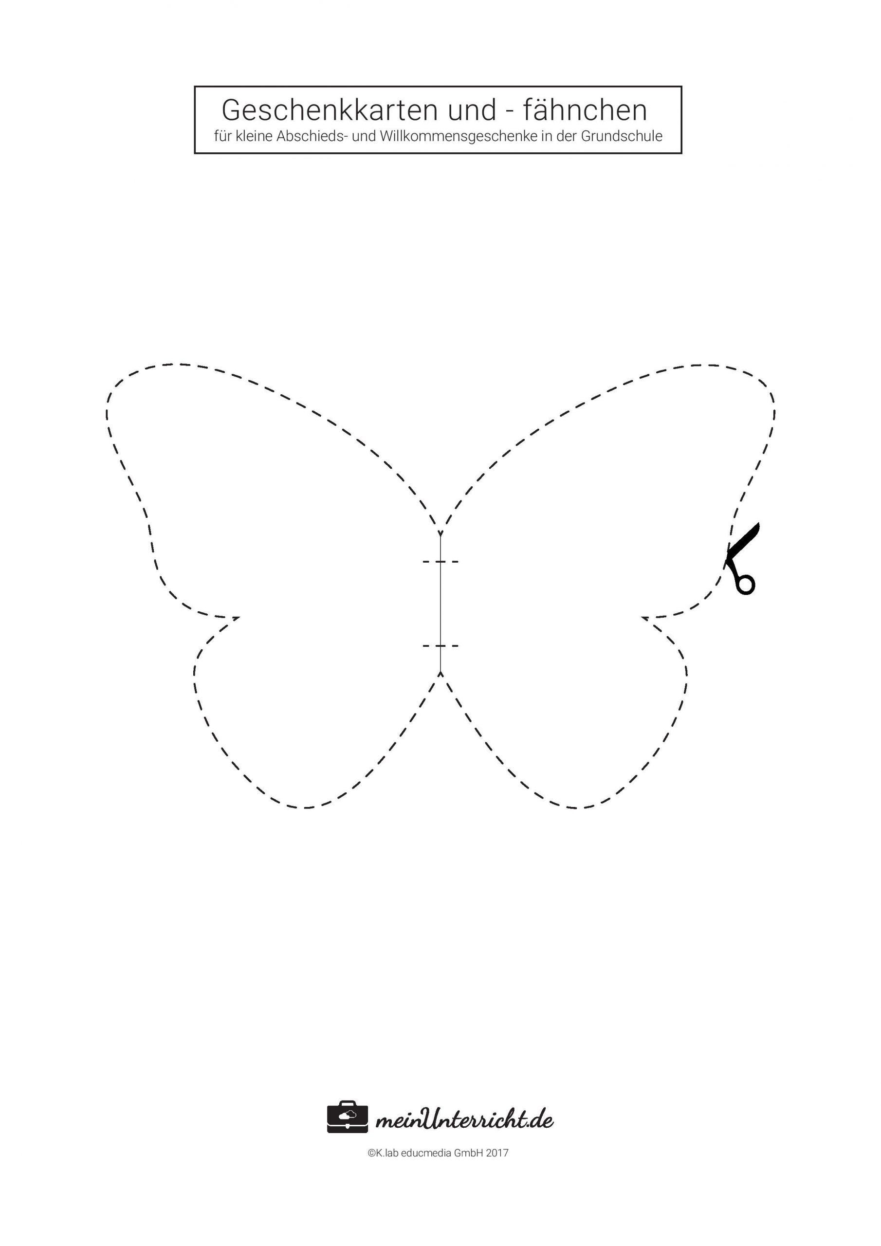 Kleine Geschenke Für Schüler (Mit Bildern) | Geschenke Für mit Vorlagen Schmetterling