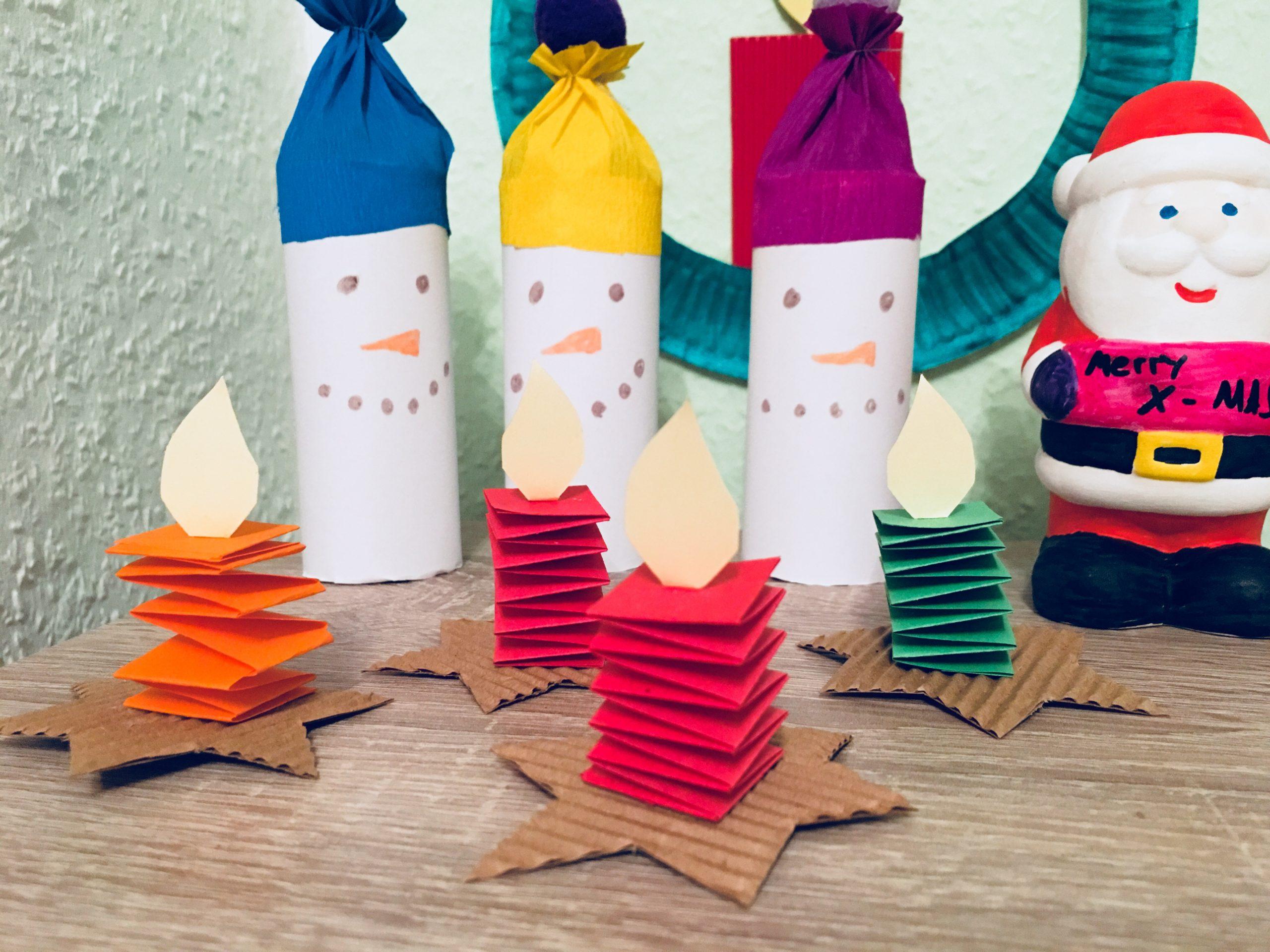 Kleine Kerzen Falten - Basteln Mit Kindern | Der für Weihnachtsbasteln Mit Kindern Ab 3 Jahren