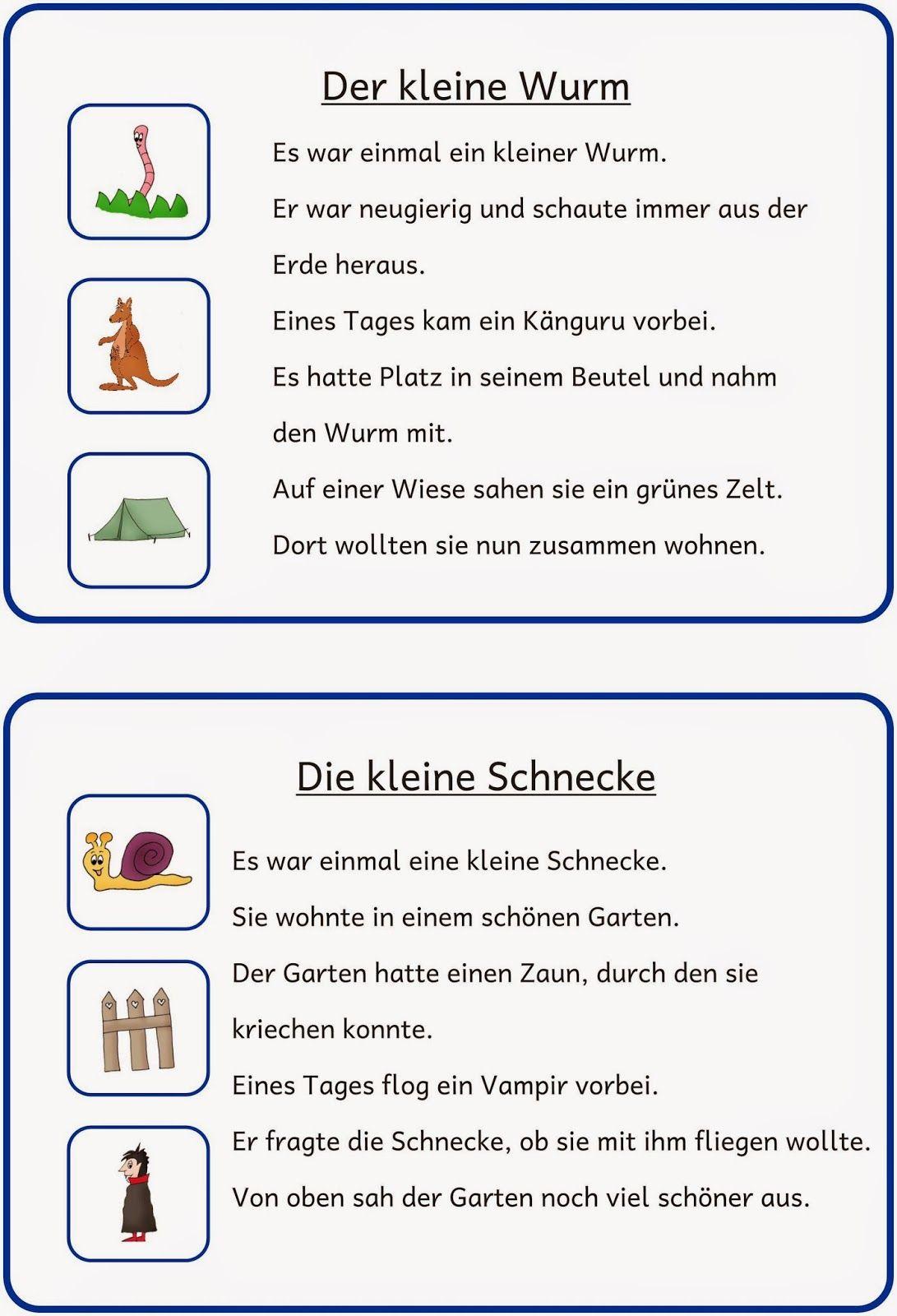 Kleine Lese- Und Schreibkartei (2) (Mit Bildern) | Lesen verwandt mit Leseübungen 1 Klasse Online Kostenlos