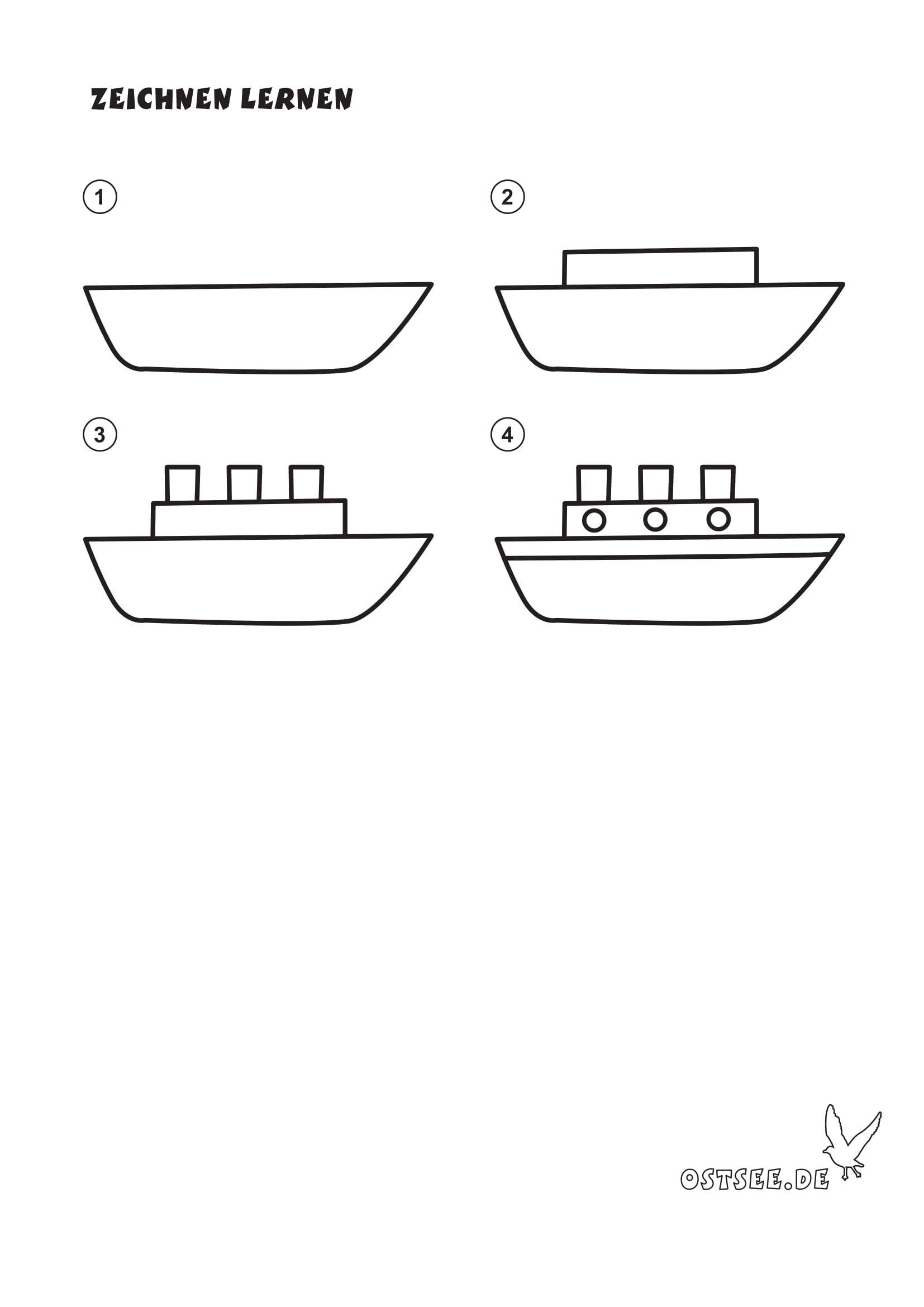 Schiff Malen - kinderbilder.download | kinderbilder.download