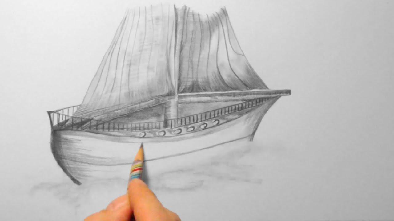 Kleines Schiff, Zeichnen Im Zeitraffer (Small Ship, Drawing In Fast  Motion)[Hd] verwandt mit Wie Zeichnet Man Ein Schiff