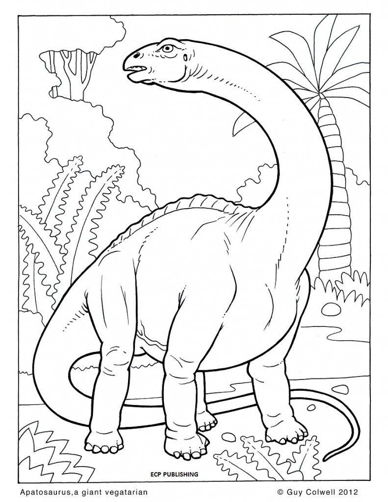 Kleurplaat: Dinosaur Coloring Page   Malvorlage Dinosaurier ganzes Mandala Dino