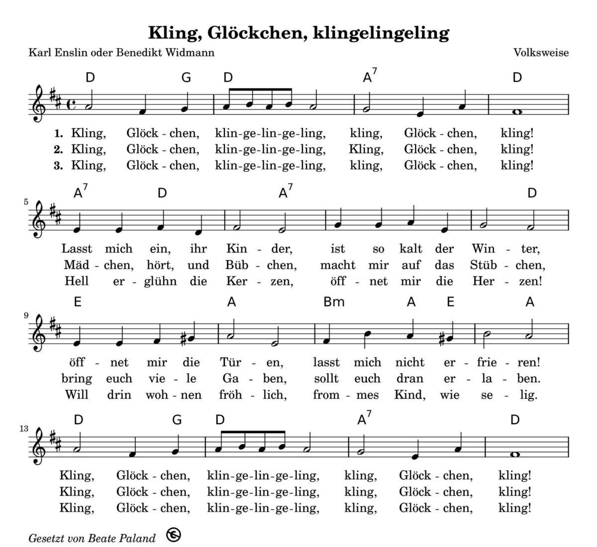 Kling, Glöckchen, Klingelingeling | Babyduda innen Kling Glöckchen Klingelingeling Text