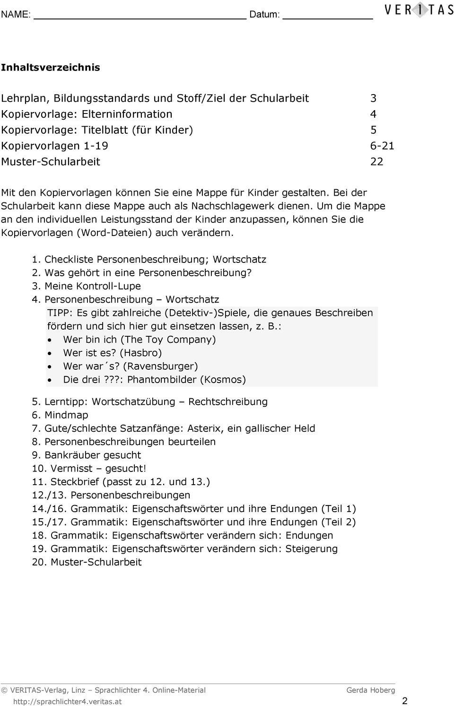 Kompetenzorientierte Schularbeiten. Gerda Hoberg für Abwechslungsreiche Satzanfänge Arbeitsblatt Zur Übung
