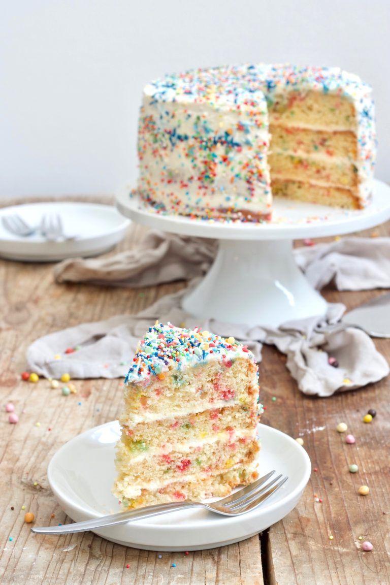 Konfetti Torte - Konfetti Kuchen | Rezept | Konfettikuchen bei Torten Für Kindergeburtstag Rezepte