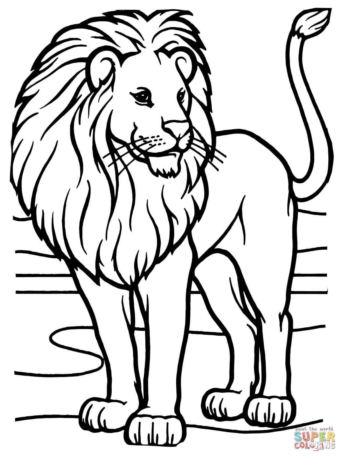 König Der Tiere   Super Coloring   Ausmalbilder Tiere über Tierbilder Zum Ausmalen Kostenlos
