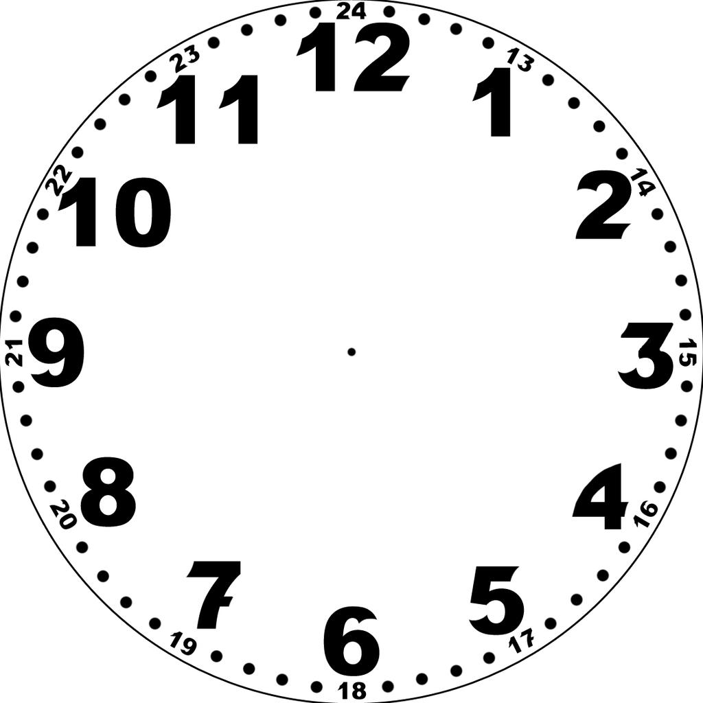 Konstruktionen, Berechnungen Und Zeichnungen » Zifferblatt in Uhr Zum Ausdrucken