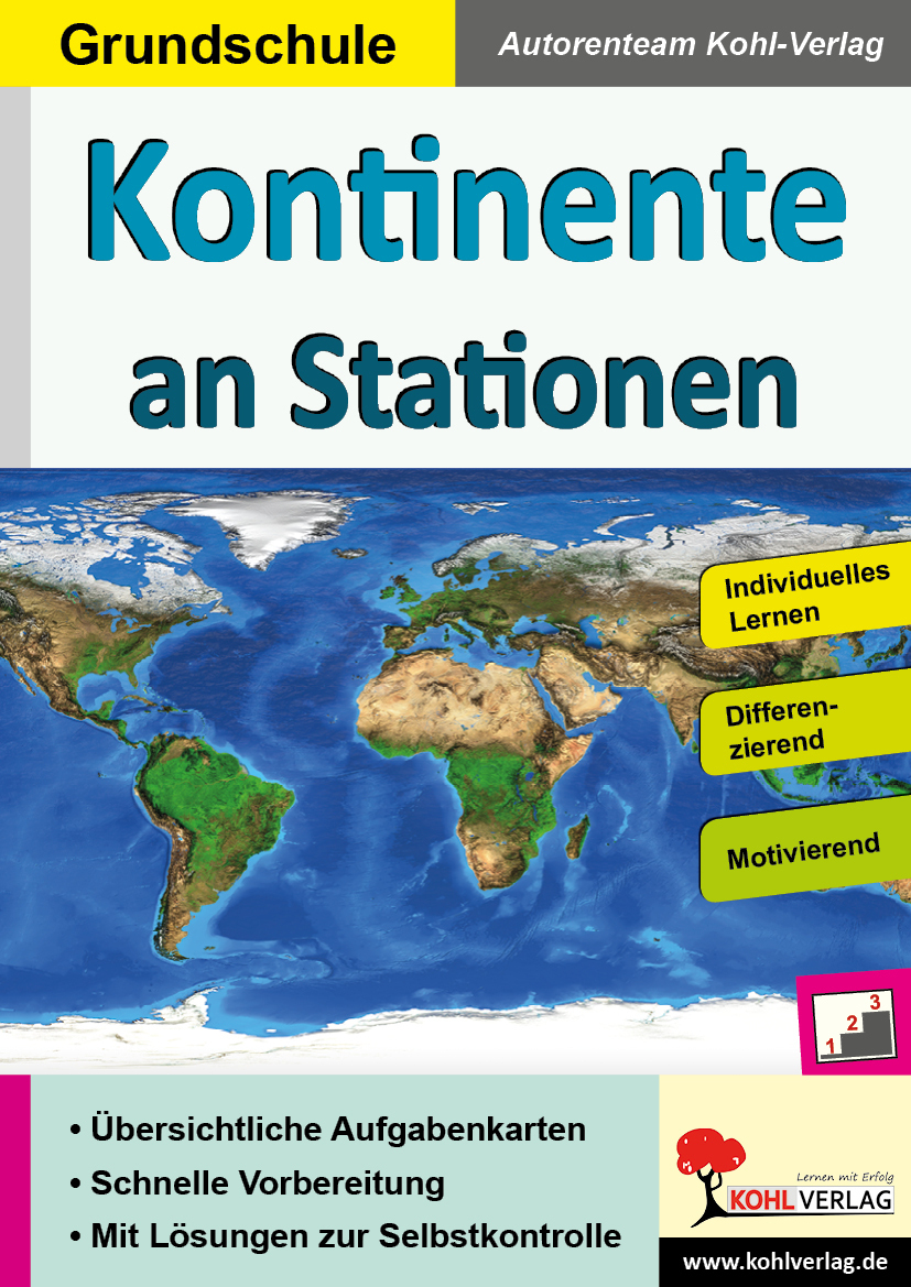 Kontinente An Stationen / Grundschule ganzes Kontinente Grundschule