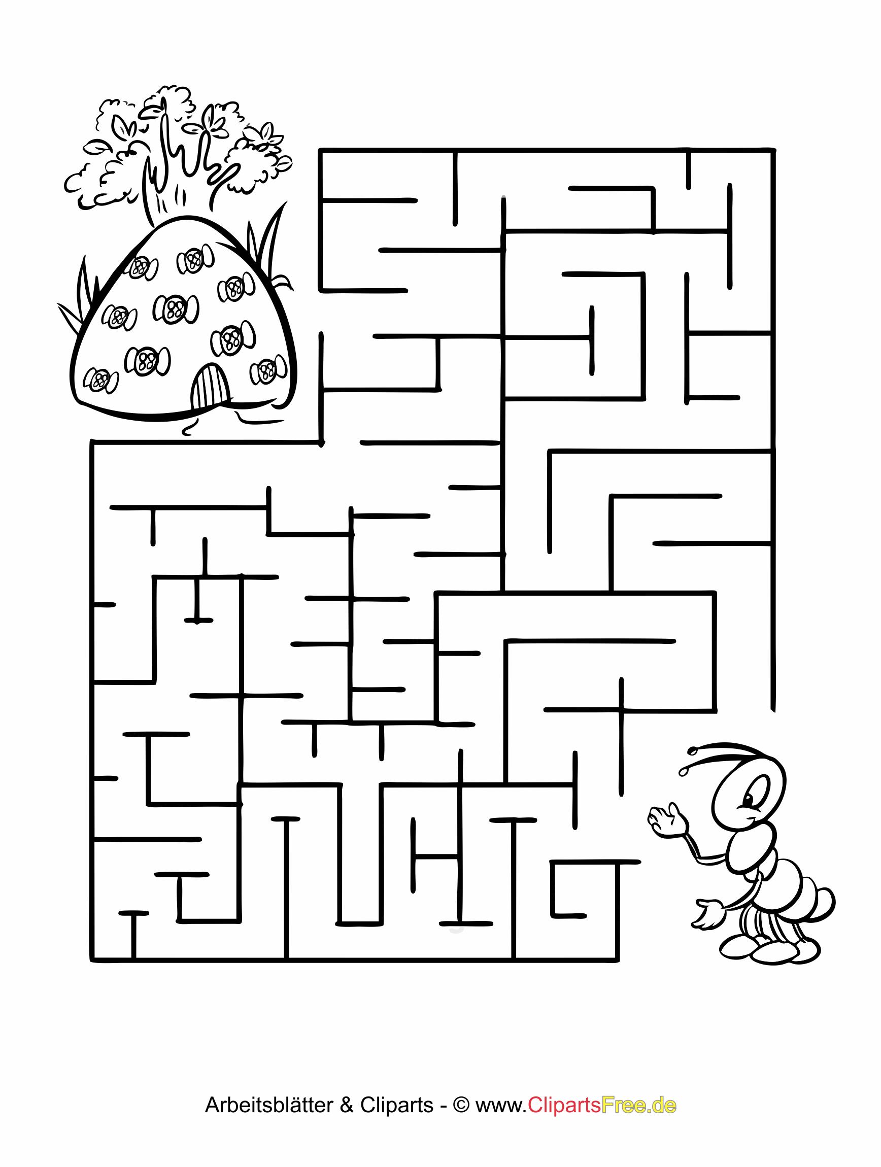 Kostenlos Labyrinth Rätsel Für Kinder für Rätsel Für Kleinkinder Zum Ausdrucken