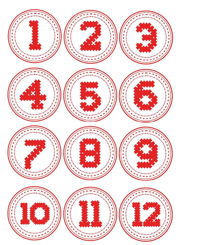 Kostenlose Adventskalender-Zahlen Zum Ausdrucken - Hallo Eltern für Adventskalender Zahlen Druckvorlage