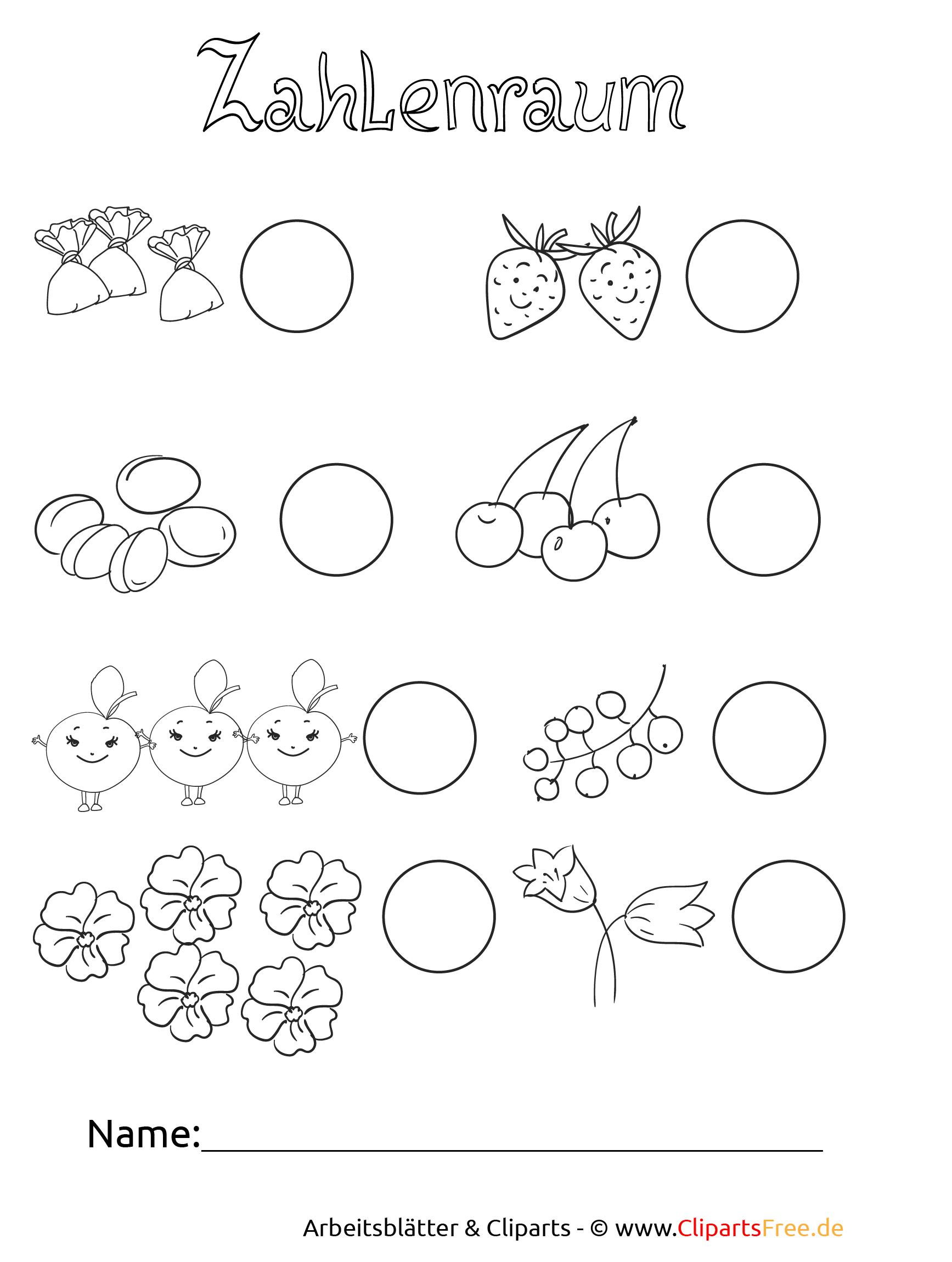 Kostenlose Arbeitsblätter Im Zahlenraum Bis 10 für Vorschulblätter Kindergarten