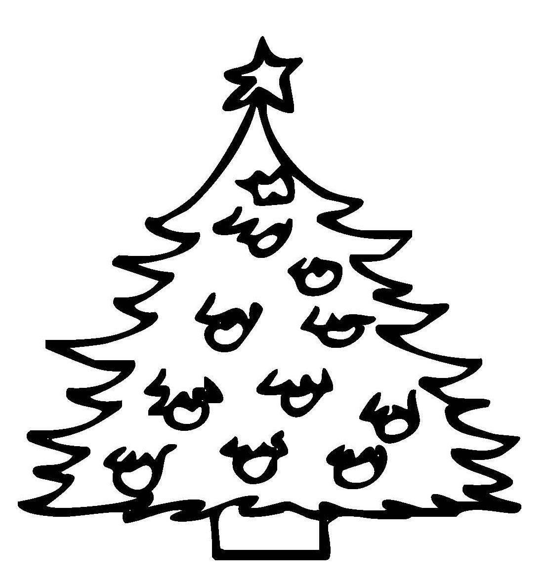 Kostenlose Ausmalbilder Und Malvorlagen: Weihnachtsbäume Zum über Weihnachtsbaum Malvorlage