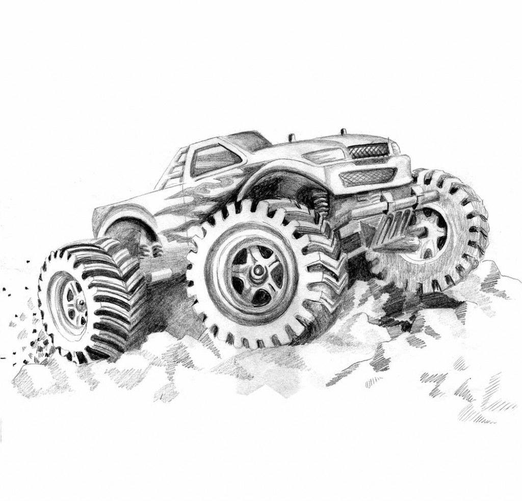Kostenlose Druckbare Monster Truck Malvorlagen Für Kinder in Monstertruck Malvorlage