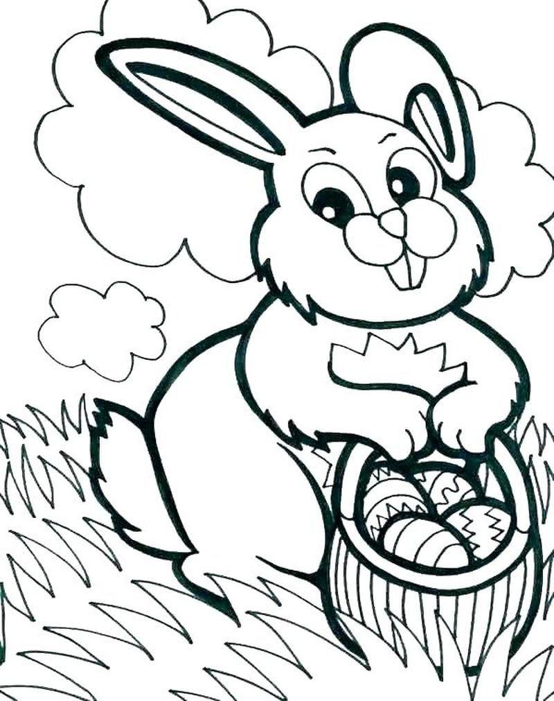 Kostenlose Druckbare Osterhasen Malvorlagen Für Kinder verwandt mit Osterhase Ausmalbilder