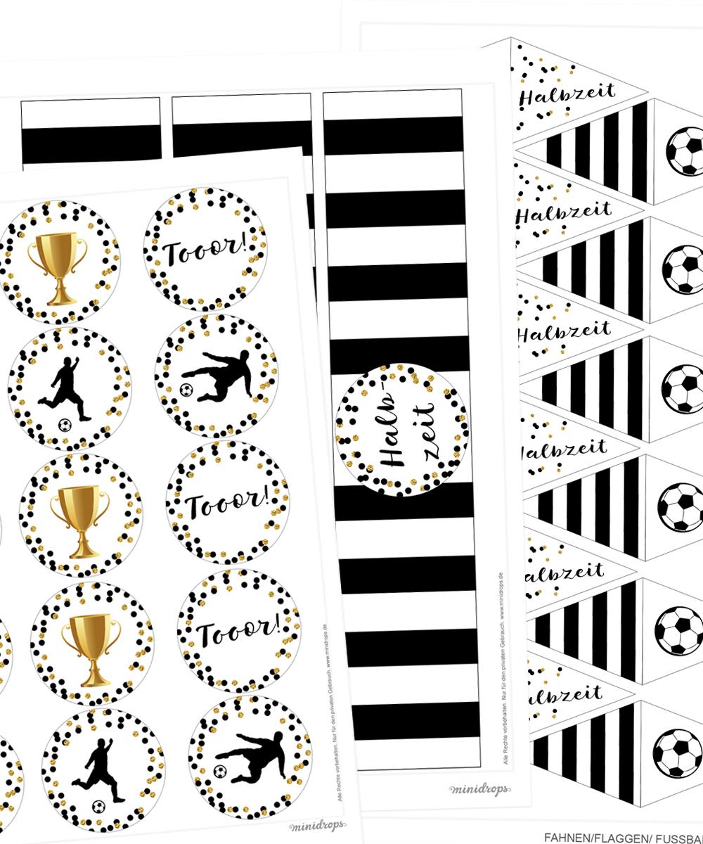 Kostenlose Fußball Printables Zum Ausdrucken Für Die in Fussball Vorlagen Zum Ausdrucken