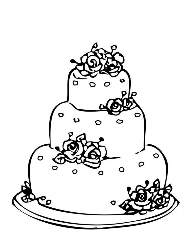 Kostenlose Geburtstagstorten: Bilder Zum Ausmalen   Wedding verwandt mit Ausmalbild Kuchen