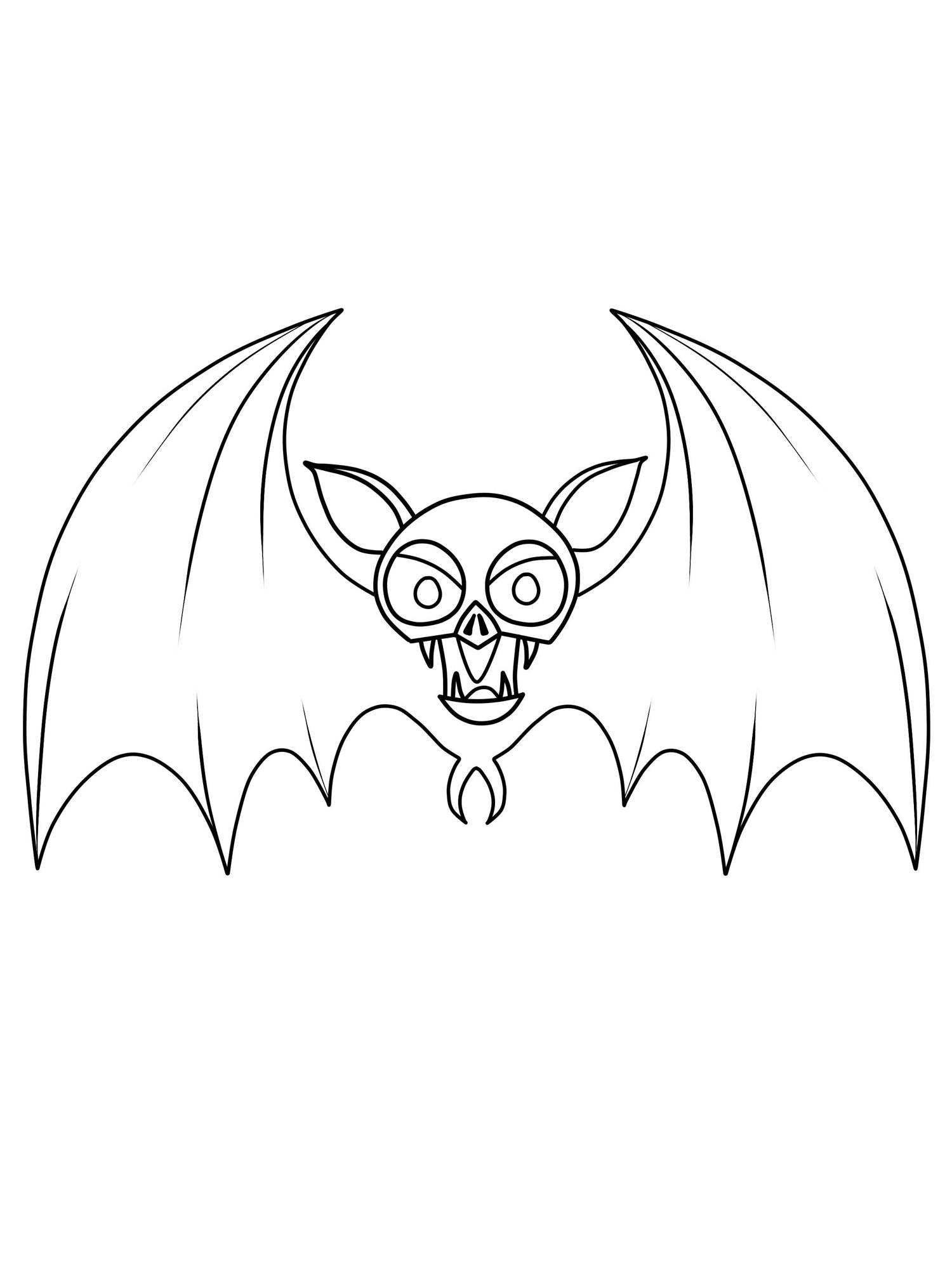 Kostenlose Malvorlage Halloween: Fledermaus Zum Ausmalen in Fledermaus Zum Ausmalen