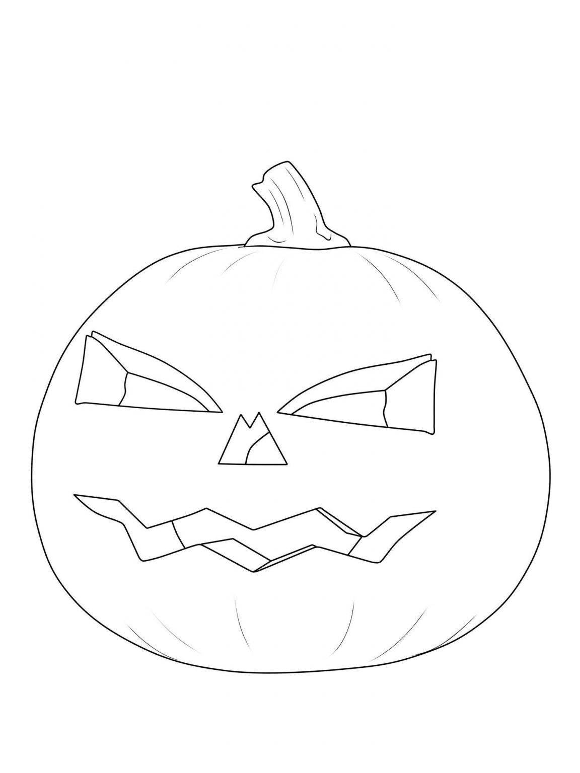 kostenlose malvorlage halloween kürbislaterne ausmalen