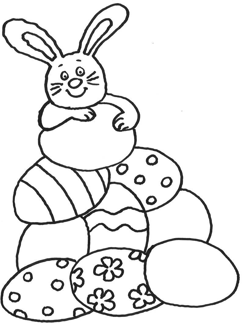 Kostenlose Malvorlage Ostern Osterhase Mit Vielen Ostereiern mit Osterhase Malvorlage