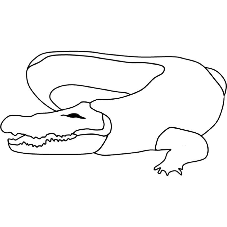 Kostenlose Malvorlage Tiere: Ausmalbild Krokodil Zum Ausmalen mit Krokodil Zum Ausmalen