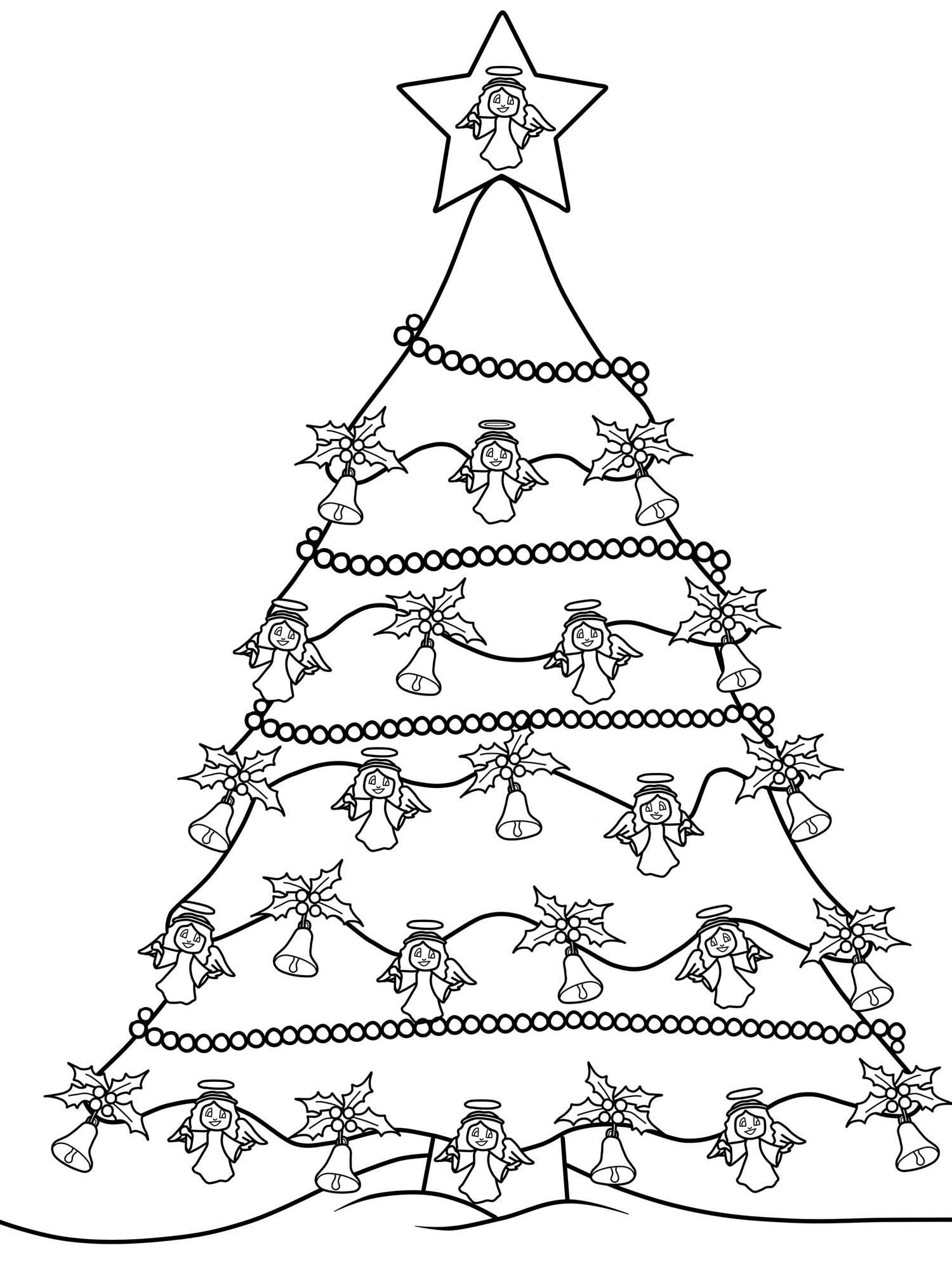 Kostenlose Malvorlage Weihnachtsbäume: Weihnachtsbaum Zum verwandt mit Tannenbaum Zum Ausmalen