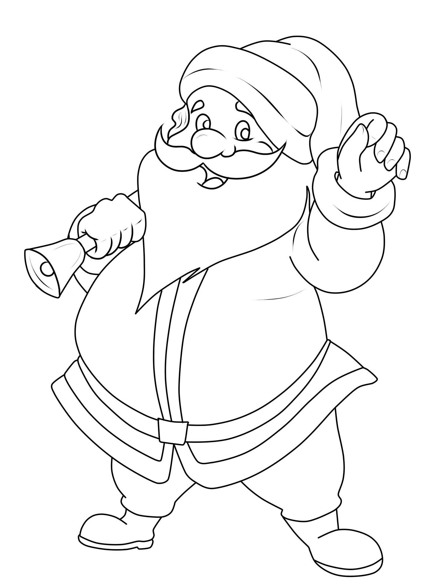 Kostenlose Malvorlage Weihnachtsmänner: Weihnachtsmann Zum innen Malvorlage Weihnachtsmann