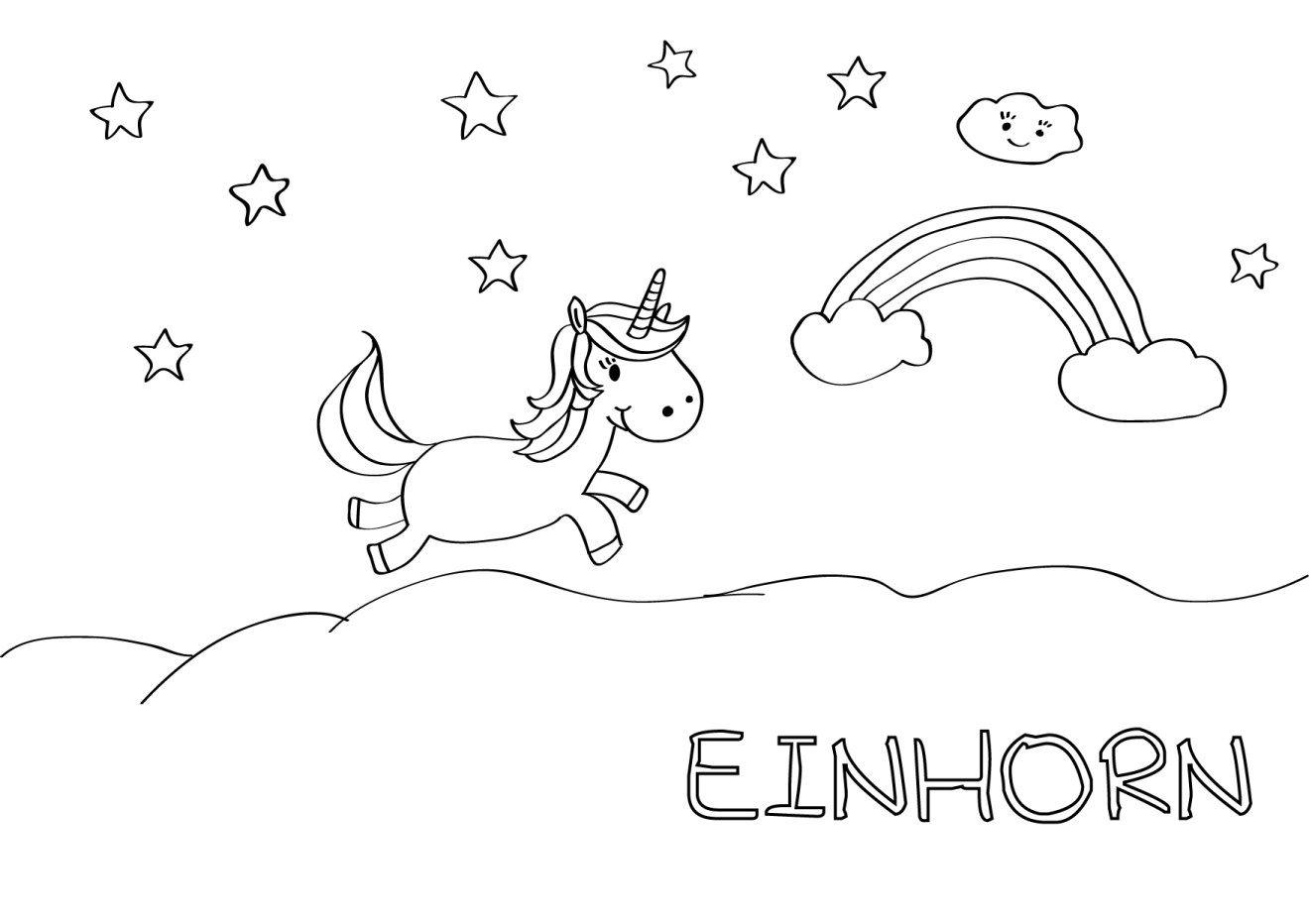 Kostenlose Malvorlagen   Malvorlage Einhorn, Malvorlagen verwandt mit Einhorn Ausmalbilder Zum Ausdrucken