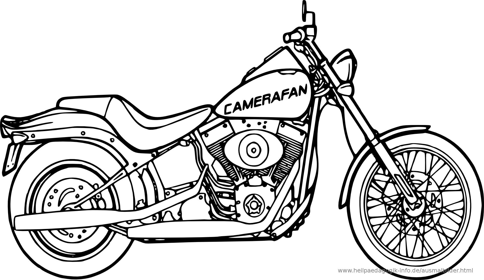 Kostenlose Malvorlagen Motorrad | Coloring And Malvorlagan innen Motorrad Ausmalbilder