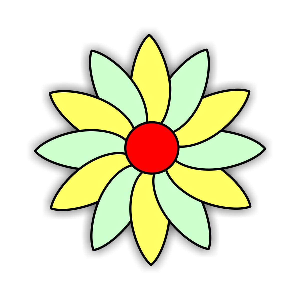 Kostenlose Malvorlagen (Window Color Fensterbilder) Zum Download ganzes Blumenbilder Zum Ausdrucken