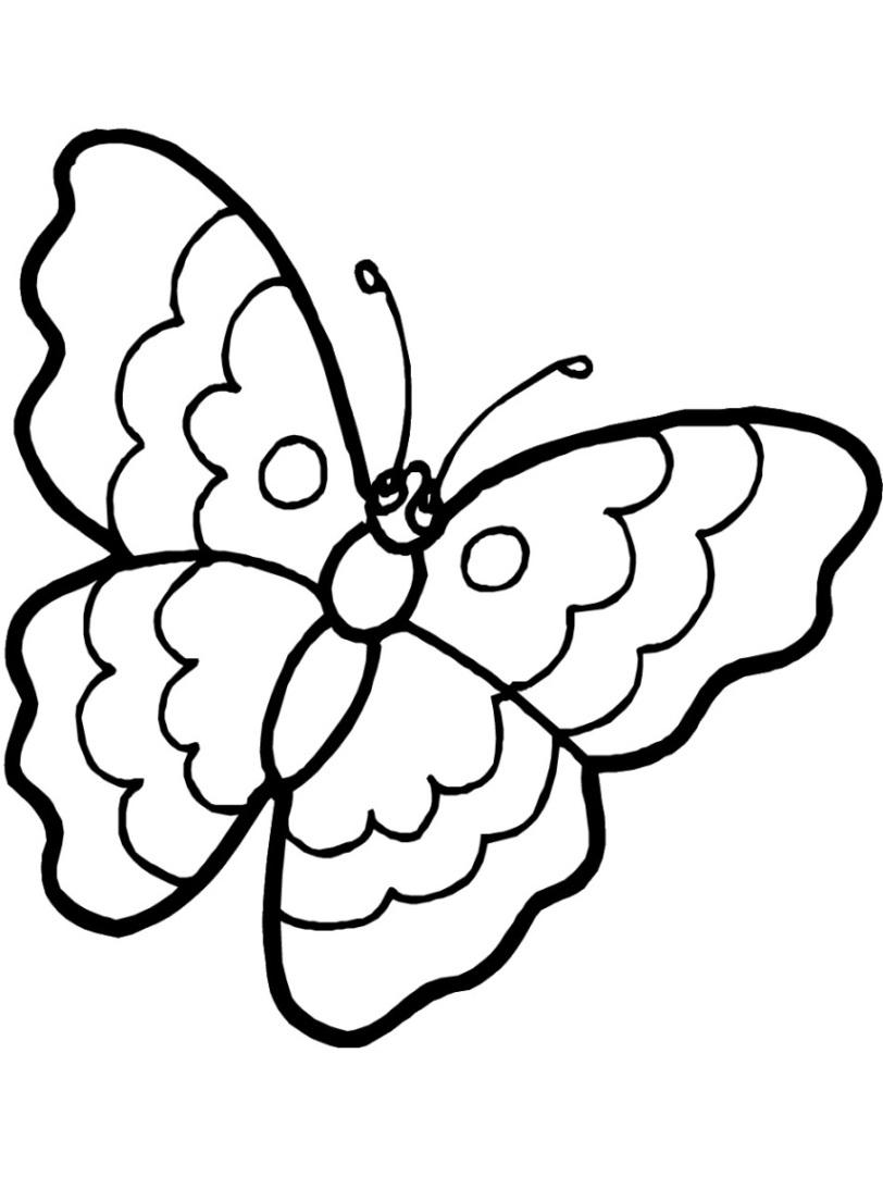 Kostenlose Malvorlagen Zum Ausdrucken Marienkäfer Und in Kostenlose Malvorlage Schmetterling