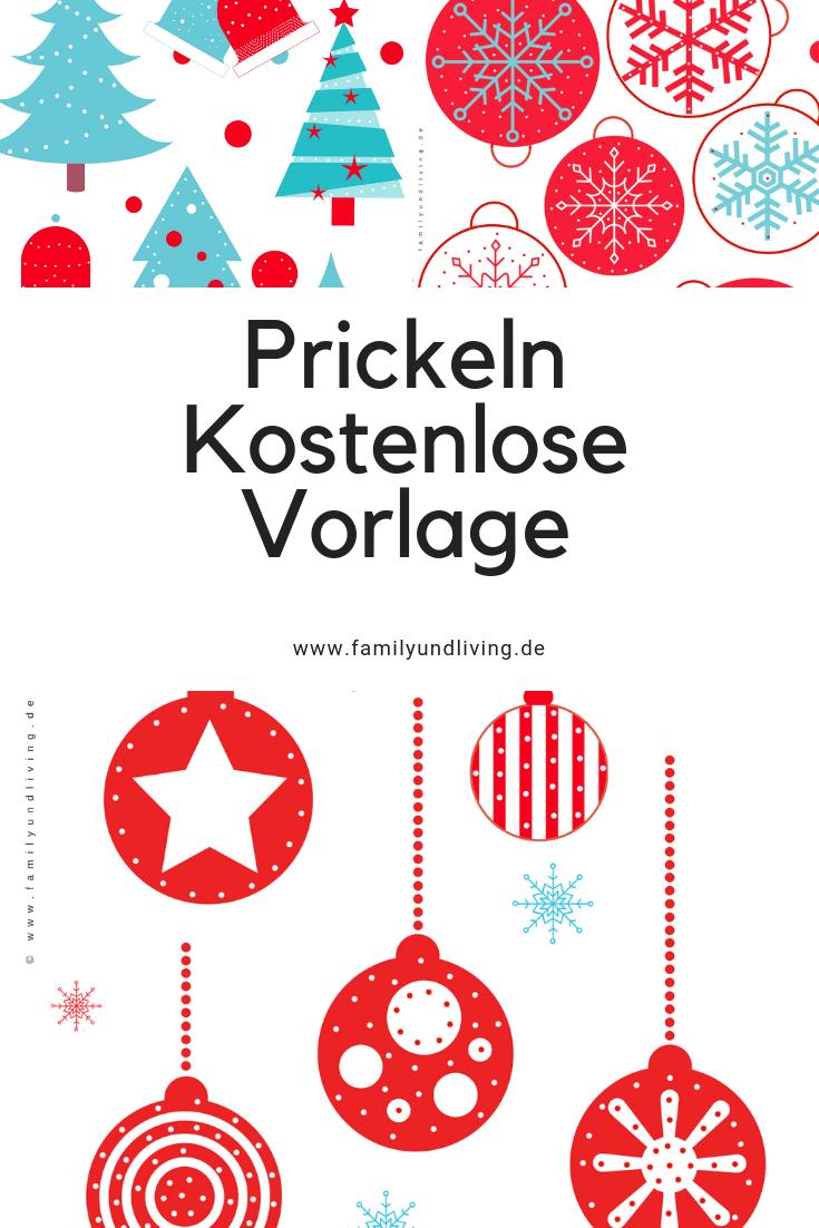 Kostenlose #weihnachtliche #prickelvorlage Zum #download mit Weihnachten Basteln Vorlagen Kostenlos
