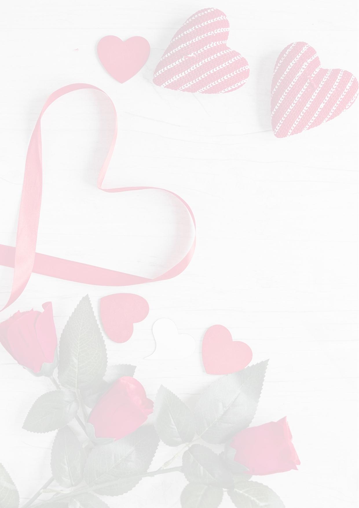 """Kostenloses Briefpapier """"valentinstag"""" - Vorlagen Zum Selbst bestimmt für Briefpapier Drucken Kostenlos"""