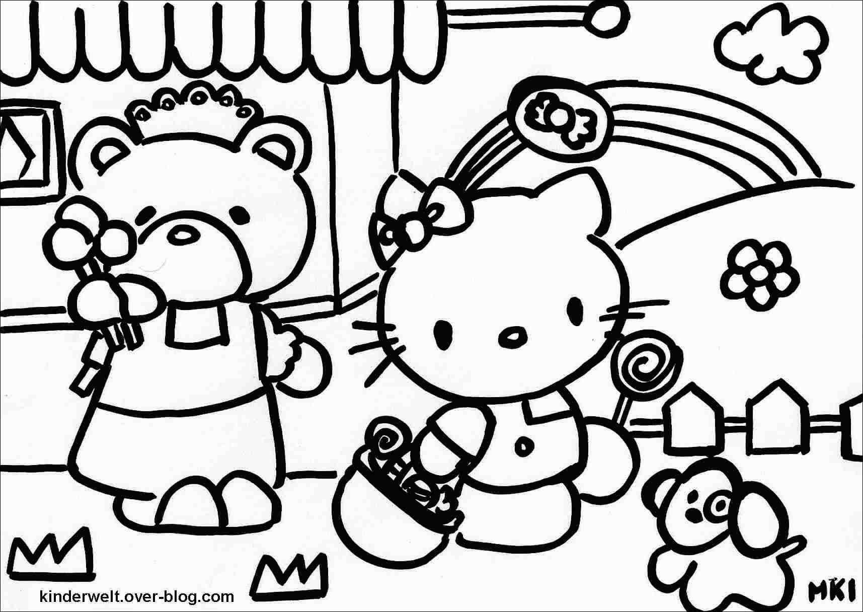 Kreativ Hello Kitty Ausmalbilder Online Kostenlos Fr Dein innen Hello Kitty Kostenlos