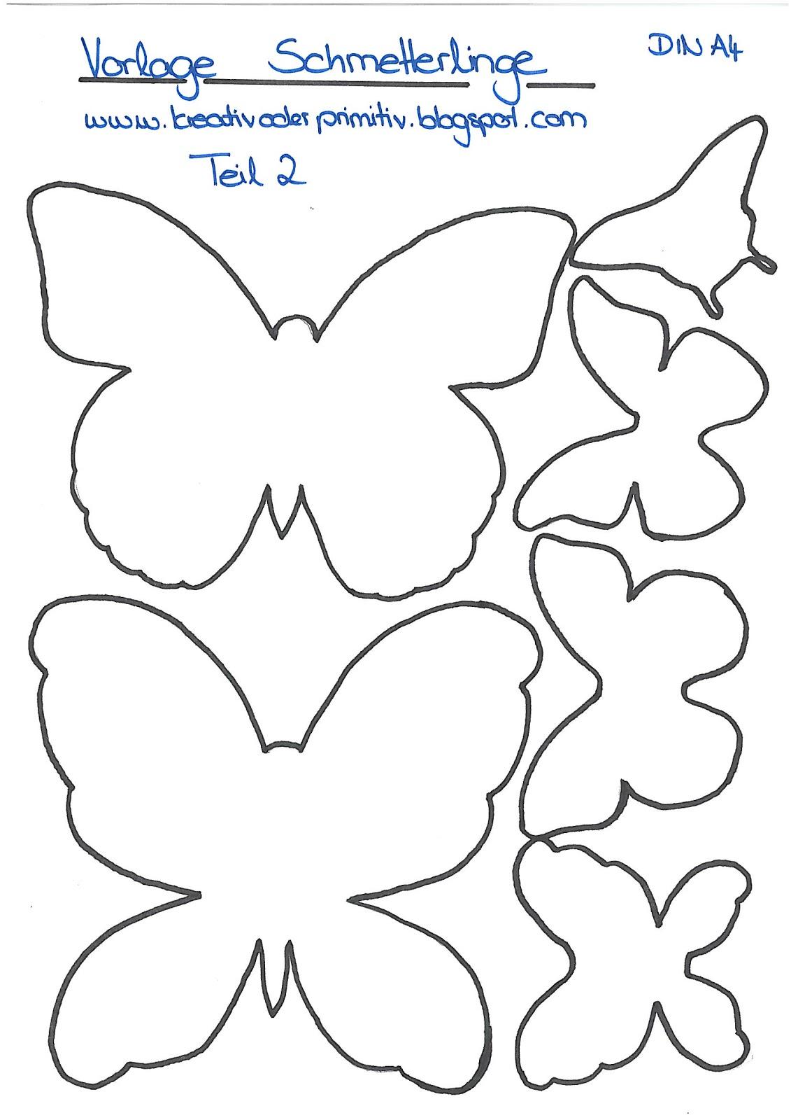Kreativ Oder Primitiv?: Schmetterling-Collage für Schmetterling Vorlage