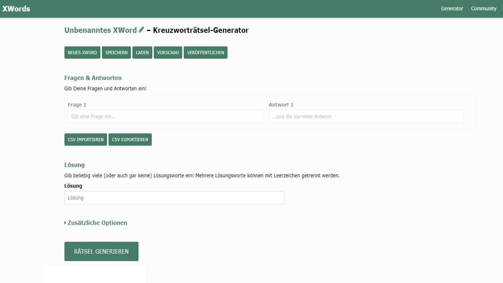 Kreuzworträtsel Erstellen: 3 Tools Im Vergleich - Chip innen Rätsel Selbst Machen