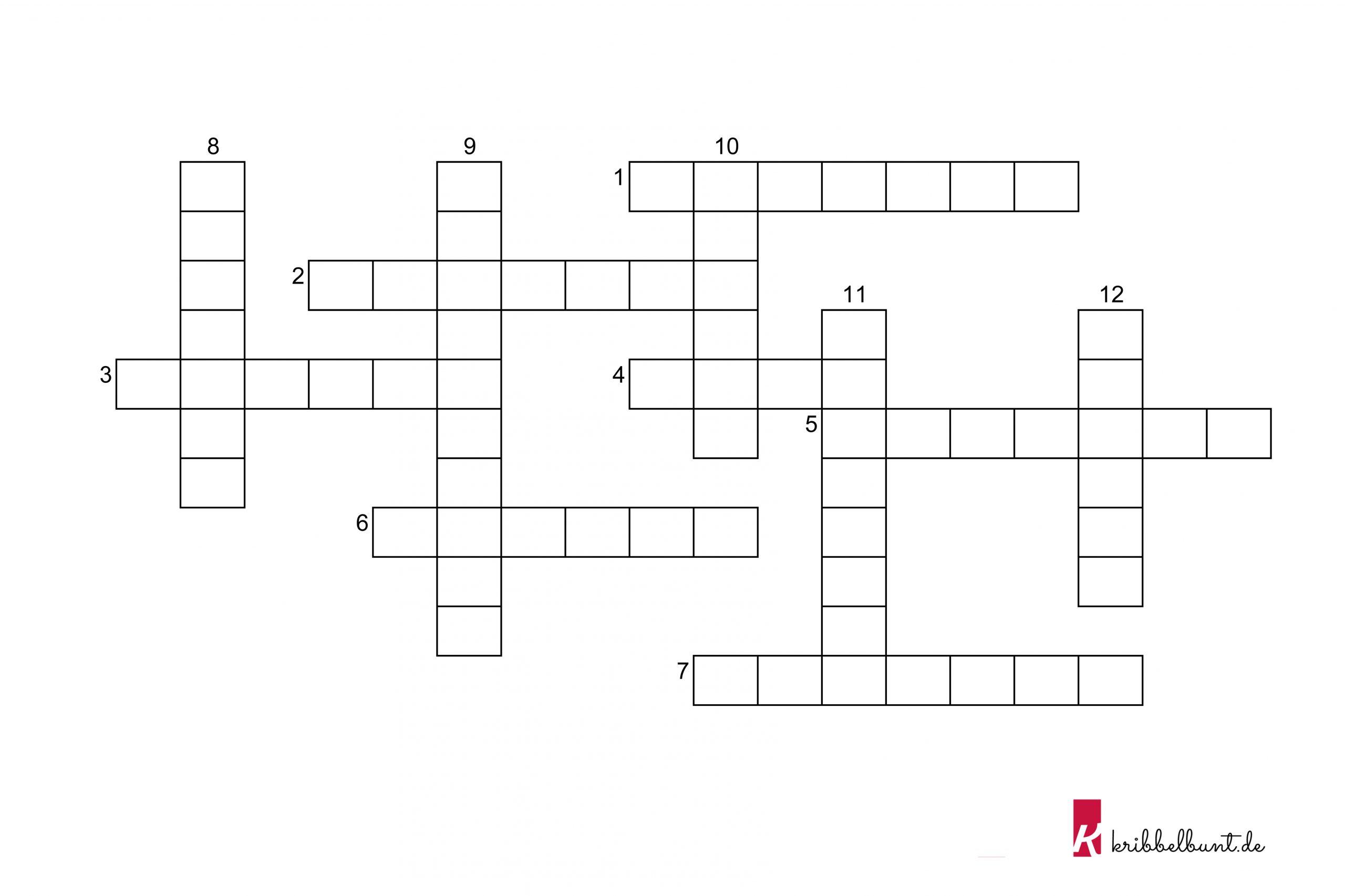 Kreuzworträtsel Halloween   Kribbelbunt ganzes Kinder Kreuzworträtsel Zum Ausdrucken