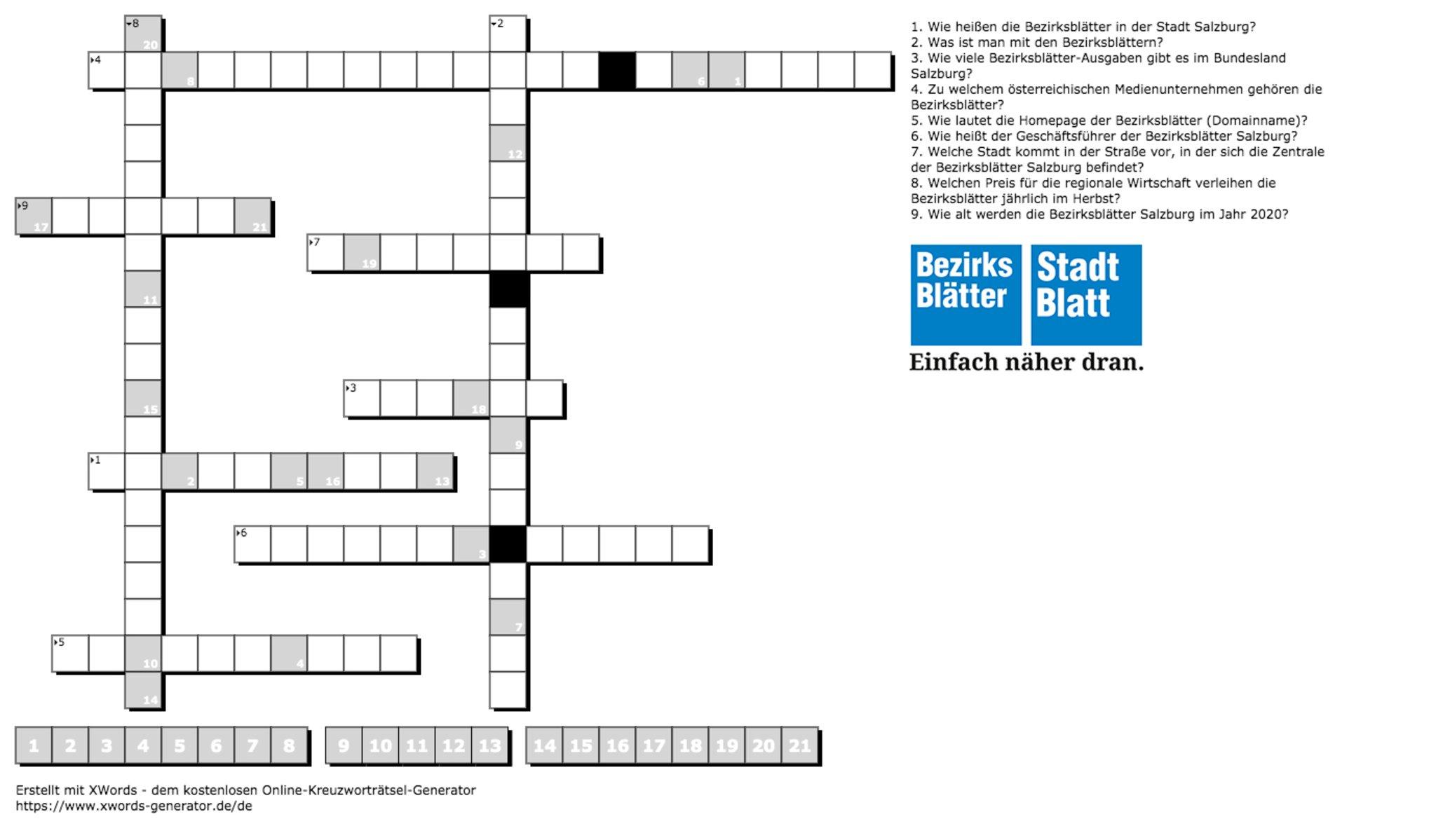 Kreuzworträtsel: Knackst Du Das Große Bezirksblätter ganzes Falls Kreuzworträtsel