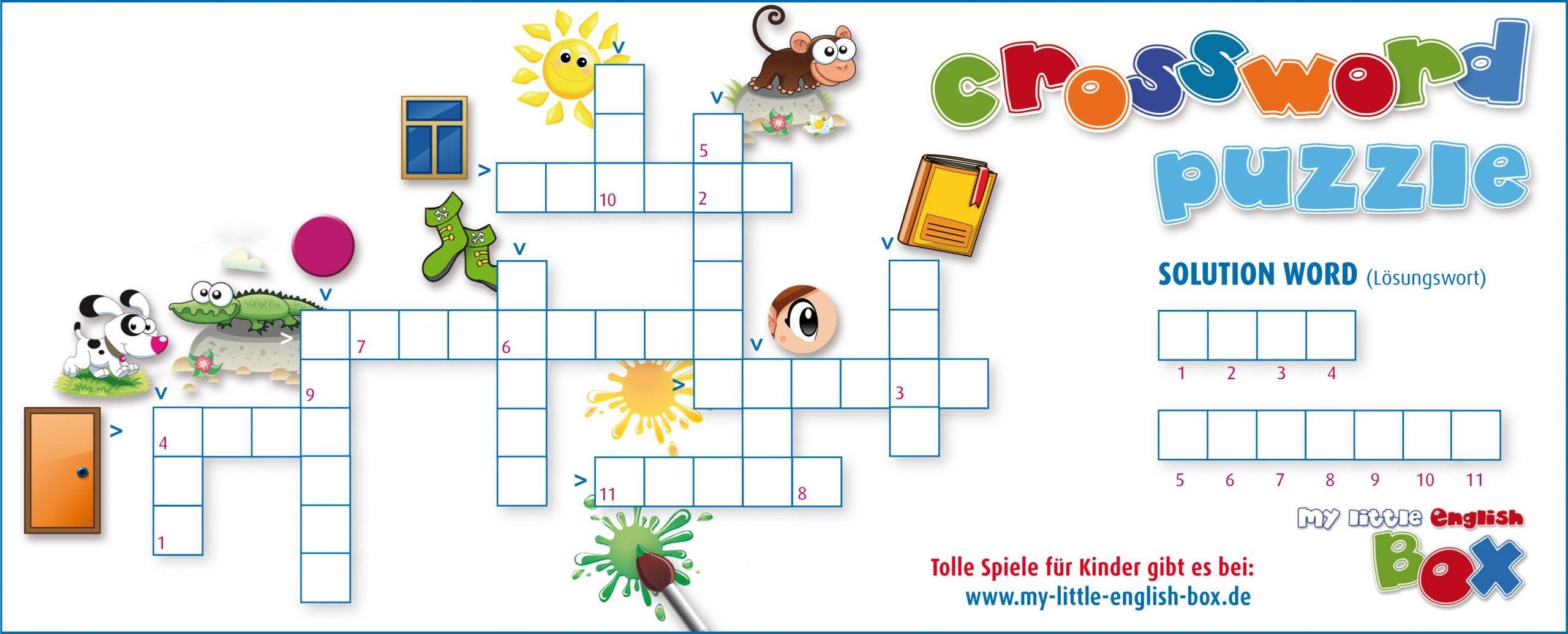 Kreuzworträtsel - Spielerisch Englisch Lernen Für Kinder verwandt mit Kreuzworträtsel Für Kindergartenkinder