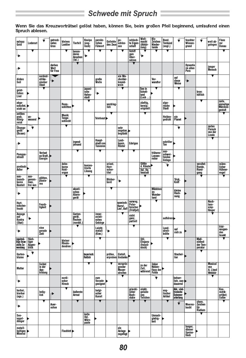 Kreuzworträtsel, Sudoku Und Denksport | Raetselkrueger ganzes Schwedenrätsel Ausdrucken