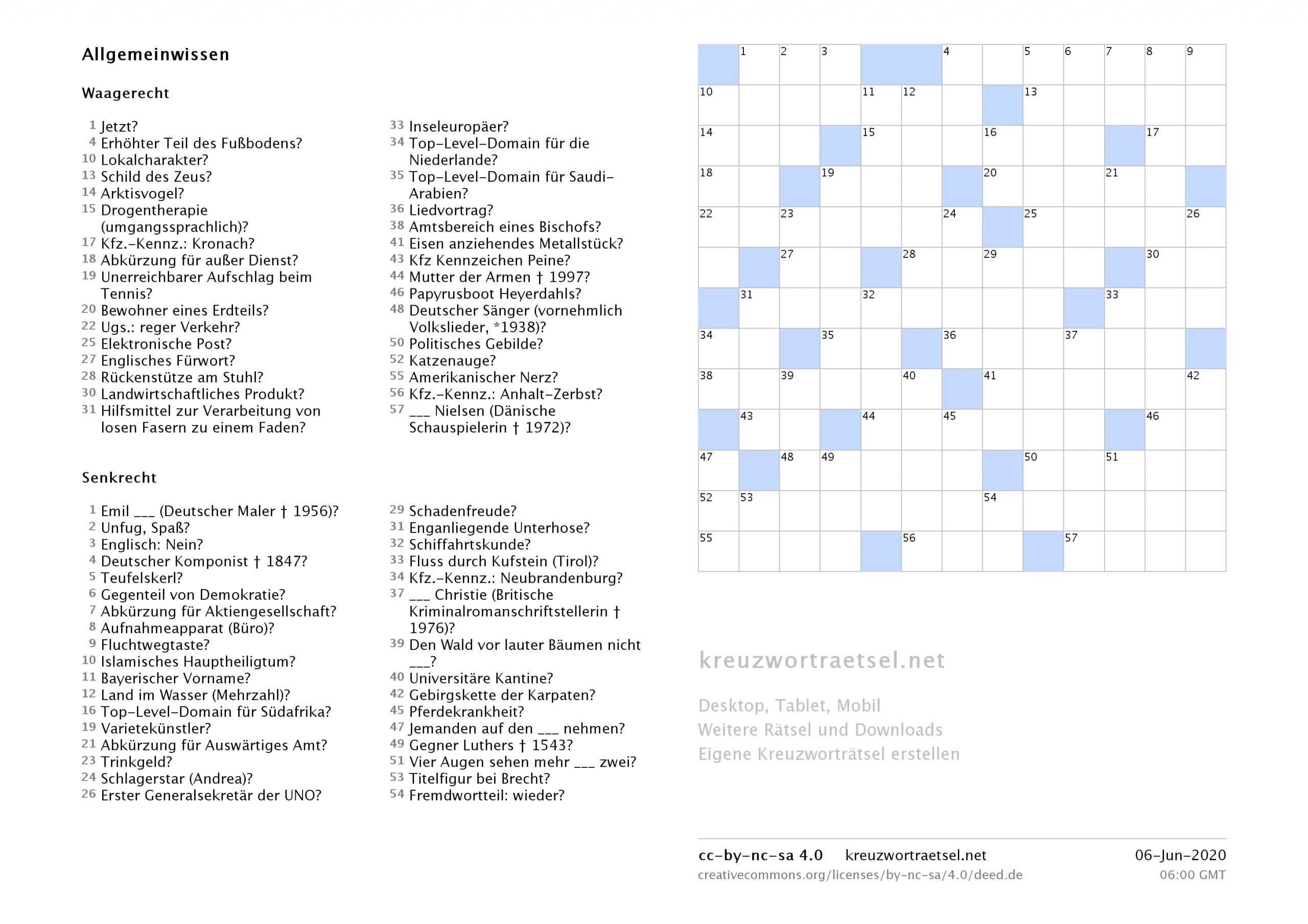 Kreuzworträtsel Zum Ausdrucken  Kreuzworträtsel über Bild Kreuzwortraetsel