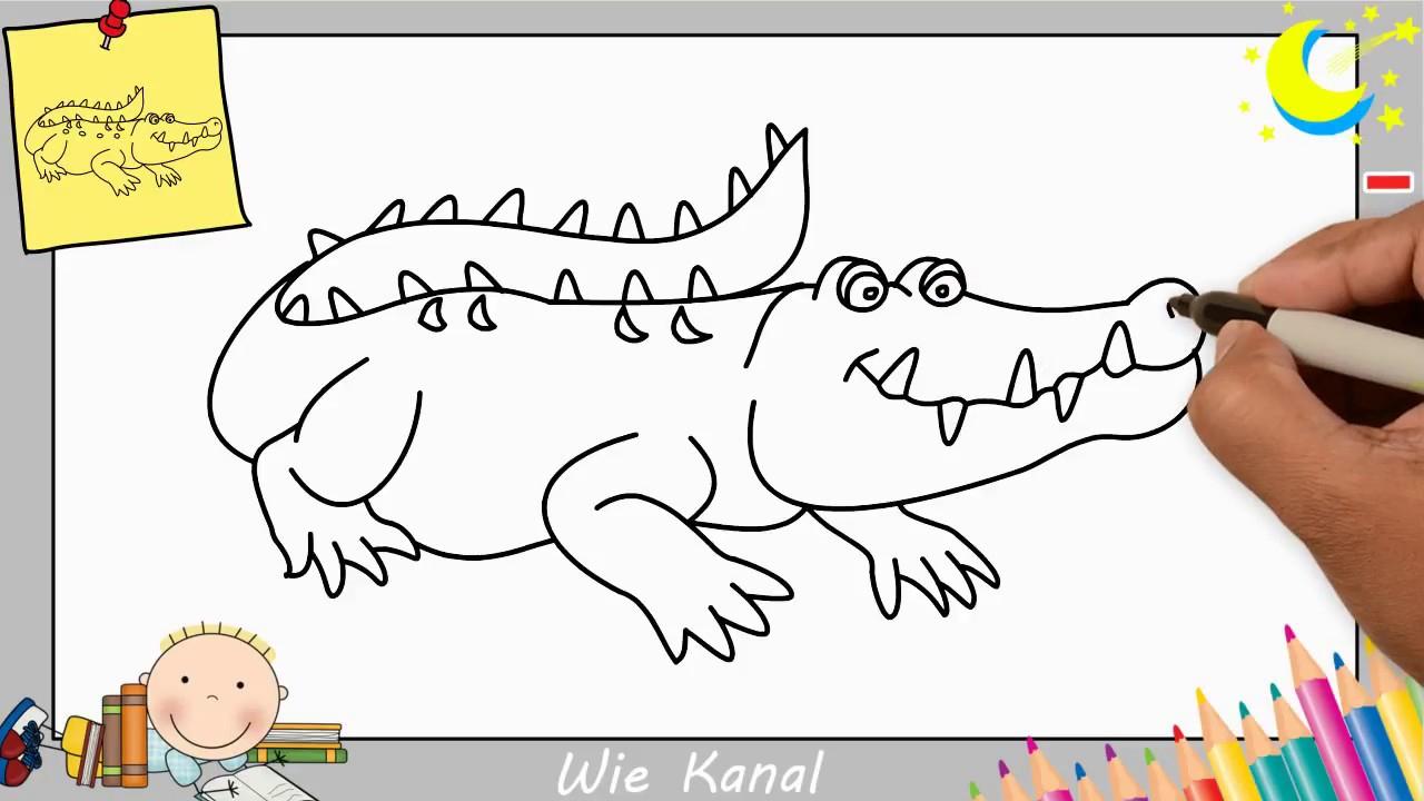 Krokodil Zeichnen Lernen Einfach Für Anfänger & Kinder in Krokodil Bilder Für Kinder