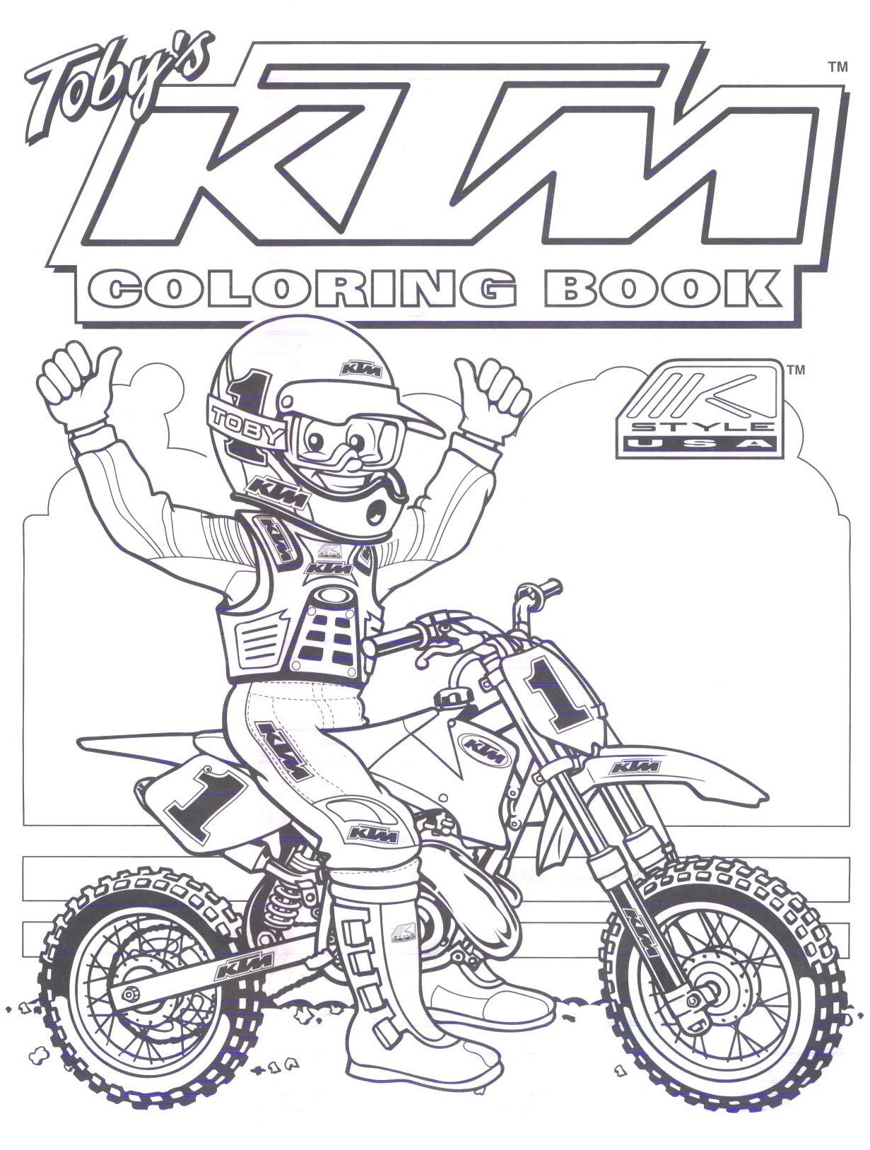 Ktm Dirt Bike Coloring Pages … | Dirt Bike Party bei Motorrad Malvorlage