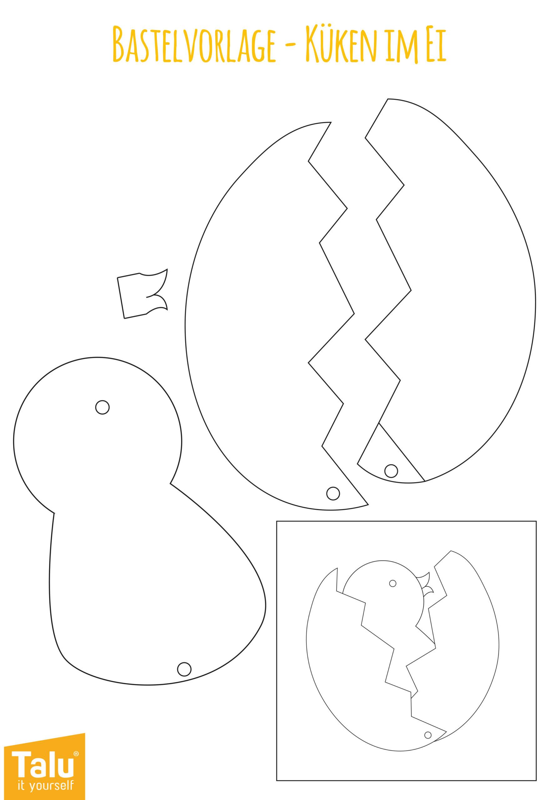 Küken Aus Papier Basteln Für Ostern   Bastelanleitung verwandt mit Oster Bastelvorlagen Zum Ausdrucken