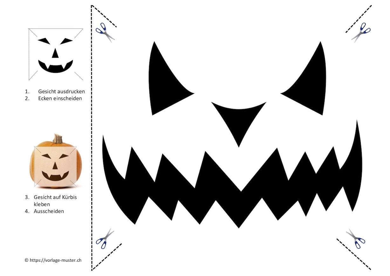 Kürbis Schnitzvorlagen Zum Ausdrucken   Kostenloser Download innen Halloween Kürbis Vorlagen Zum Ausdrucken
