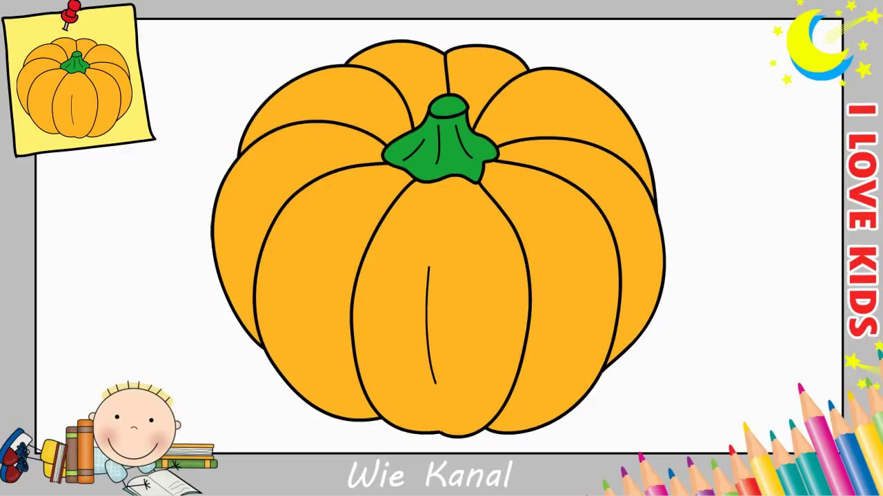 Kürbis Zeichnen Schritt Für Schritt Für Anfänger & Kinder - Halloween 2017 in Kürbis Malen