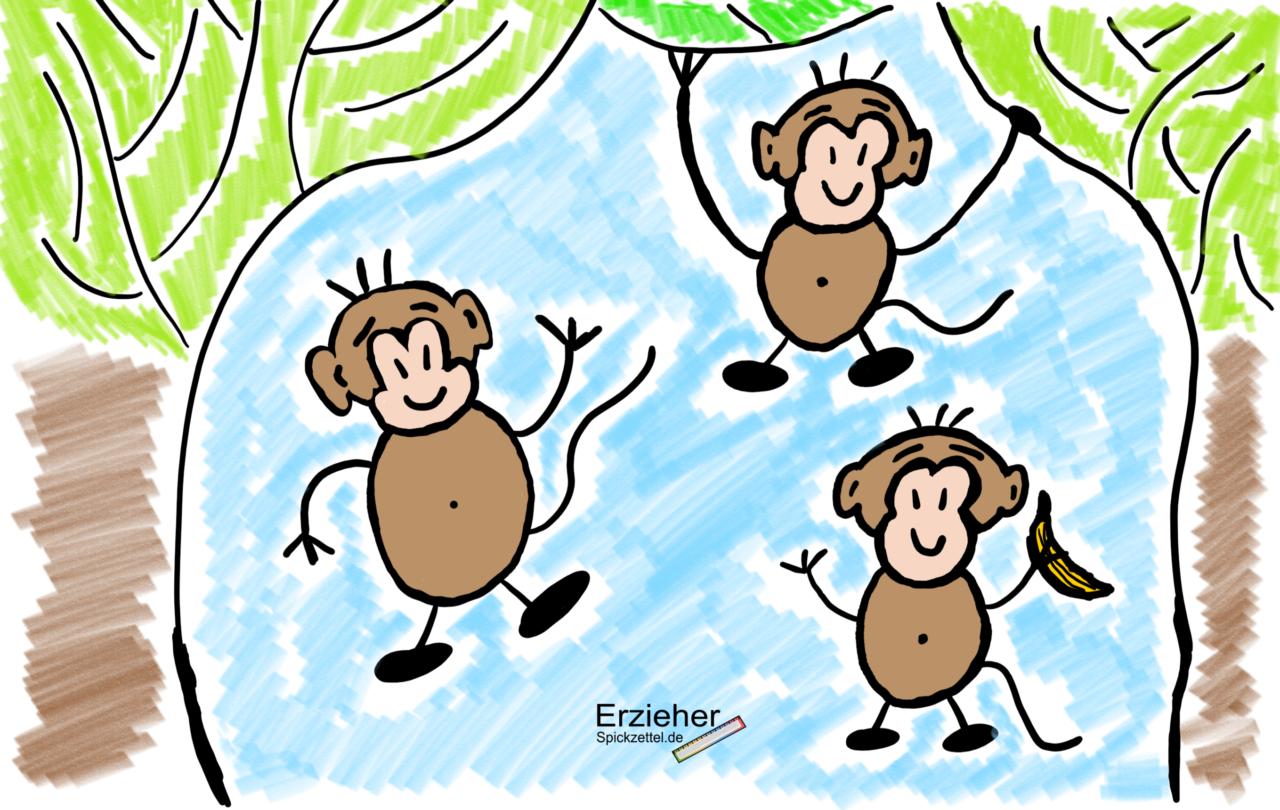"""Kurzfristige Planung - """"die Affen Rasen Durch Den Wald - Wir mit Die Affen Rasen Durch Den Wald Noten"""