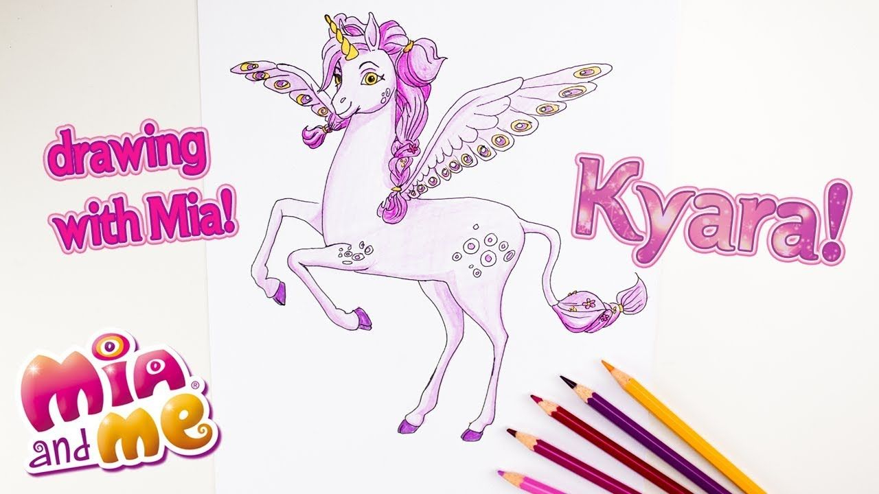 Kyara - Drawing With Mia - Mia And Me | Malvorlagen bei Malvorlage Mia And Me