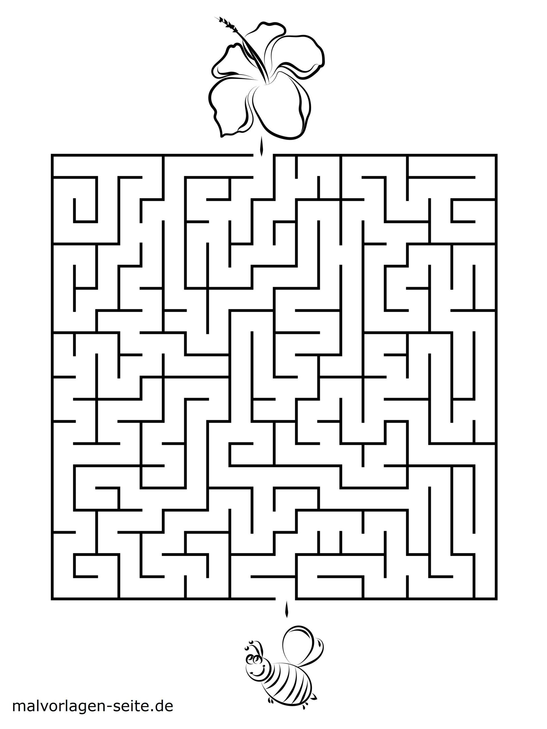 Labyrinthe Für Kinder Zum Ausdrucken - Kostenlos Rätseln innen Rätsel Für Schulkinder